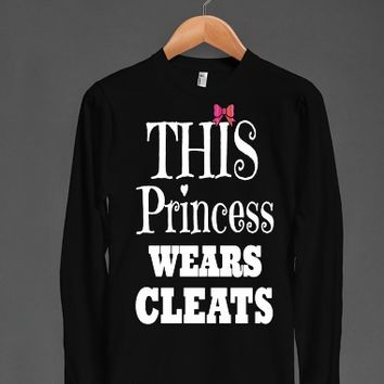 This Princess Wears Soccer Softball Cleats Bow long Sleeve
