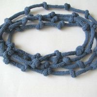 Blue Statement Necklace - Cotton Ne.. on Luulla