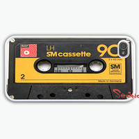 iPhone 4 Case - Cassette Tape iPhone 4 Case, iphone 4S case - vintage style iphone case