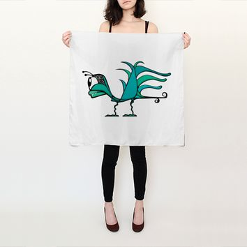 Fantasy Bird Illustration by Daniel Ferreira-Leites (Square Scarf (26