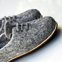 Handmade cork/Teflon or cork /rubber soles for my felted slippers