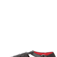 Hopscotch Black Caged Pointed Flats