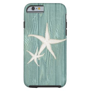 Starfish Vintage Aqua Wood Beach iPhone 6 Case