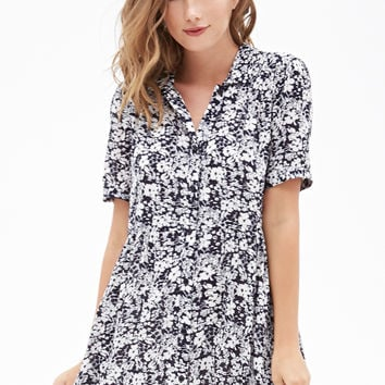 Floral Button-Down Dress