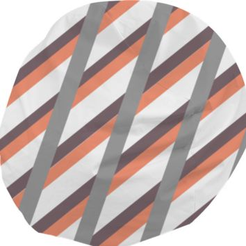 Neutral stripes beanbag created by duckyb | Print All Over Me