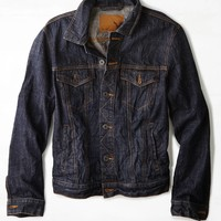 AEO Dark Denim Jacket, Navy | American Eagle Outfitters