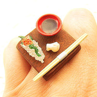 Sushi Ring Miniature Japanese Food Jewelry Traditional