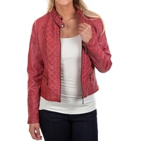 JouJou Juniors Quilted Vegan Leather Jacket at Von Maur