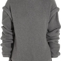Christopher Kane Oversized cashmere open-back sweater – 60% at THE OUTNET.COM