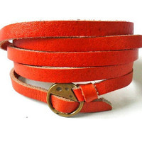 Bangle leather bracelet buckle bracelet women bracelet men bracelet made of leather and bronze buckle cuff bracelet  SH-1301