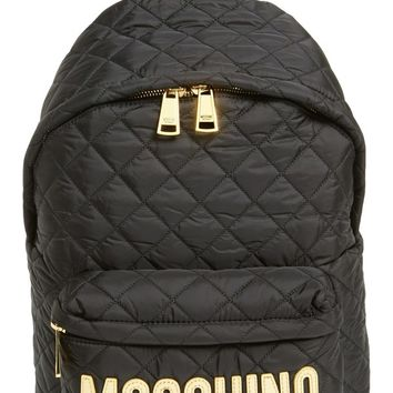Moschino Quilted Nylon Logo Backpack | Nordstrom