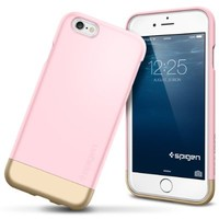 iPhone 6 Case, Spigen® [Safe Slide] iPhone 6 (4.7) Case Protective [Style Armor] [Sherbet Pink] SOFT-Interior Scratch Protection Metallic Finished Base with Dual Layer Protection Slim Trendy Hard Case for iPhone 6 (4.7) (2014) - Sherbet Pink (SGP11044)