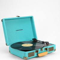 Crosley Cruiser Turntable UK Plug in Black Suede - Urban Outfitters