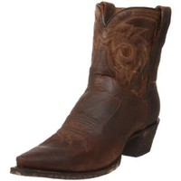 Dan Post Women`s DP3434 Flat Iron Short Western Boot,Bay Apache Goat,10 M US