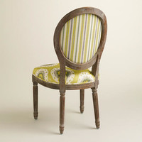 Ikat and Striped Paige Dining Chairs, Set of 2