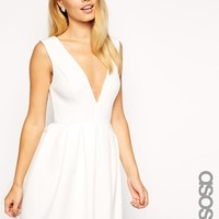 ASOS TALL Debutante Mini Skater Dress
