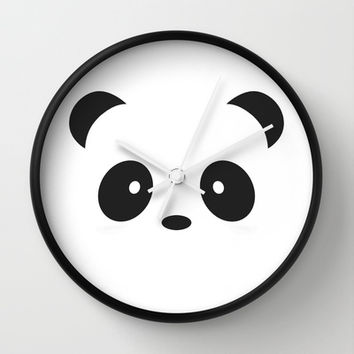 panda Wall Clock by Steffi ~ findsFUNDSTUECKE