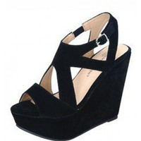 CUT OUT OPEN TOE WEDGES @ KiwiLook fashion