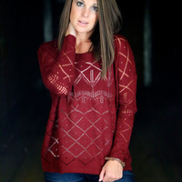 Burgundy Haze {Lightweight Knit}