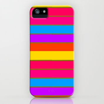 Long Happy Stripes #1 co.2 iPhone & iPod Case by 2sweet4words Designs | Society6