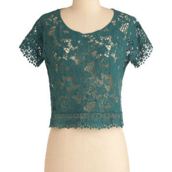 Lace Work It Out Top | Mod Retro Vintage Short Sleeve Shirts | ModCloth.com