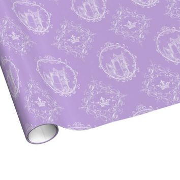 Fairy Tale Castle Crown Lavender Wrapping Paper