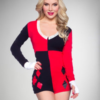 Harley Quinn Junior Fitted Romper