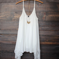 Flower child flowy dress | cream
