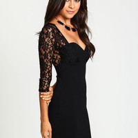 SWEETHEART LACE BODYCON DRESS