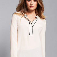 Tipped Silk Popover - Victoria's Secret
