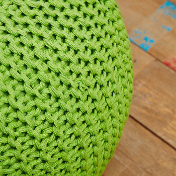 Knitted Pod Bean Bag in Green - Urban Outfitters