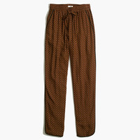 Piped Drawstring Pants in Tile Medallion