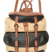 Cute Beige Backpack - Canvas Backpack - $45.00