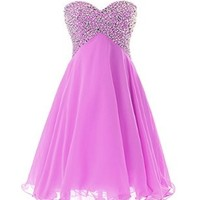 Dressystar Sweety Girls Cocktail Homecoming Gowns Prom Pageant Dress Lace-up back