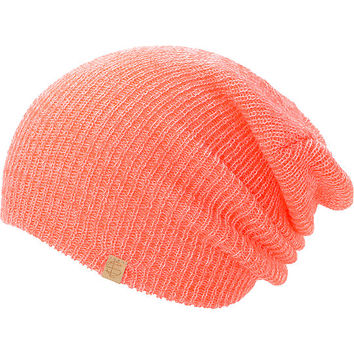 Empyre Piper Neon Coral Speckle Beanie