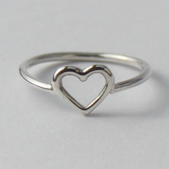 Heart Ring , Sweet, Romantic sterling silver ring