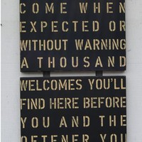 Reclaimed Wood Sign- The Visitor