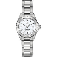 TAG HEUER - WAY1412BA0920 Aquaracer polished steel and mother-of-pearl watch | Selfridges.com
