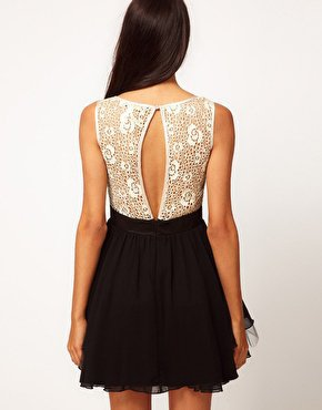 Little Mistress Lace Bustier Prom Dress at asos.com