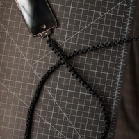 Black iPhone Paracord Cable