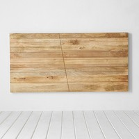 4040 Locust Angled Wood Headboard - Brown One