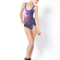 Galaxy Purple Swimsuit | Black Milk Clothing