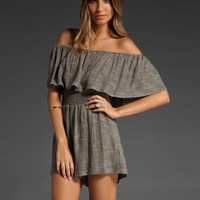 OTIS & MACLAIN Off The Shoulder Senorita Jumper in Salt and Pepper at Revolve Clothing - Free Shipping!