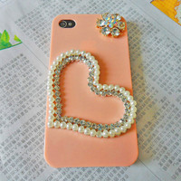 Fashion pink iphone hard Case Cover for iPhone 4 hand Case, iPhone 4s hand Case, iPhone 4 GS Hard Case,iPhpne hand cover-085