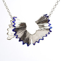 Blue pencil shaving necklace by Vic Mason - Necklaces - Unique modern jewellery by independent designers. Oye Modern.