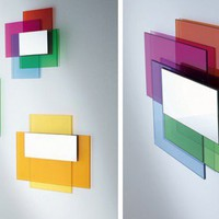 Colorful Laminated Glass Mirrors ? Colour on Colour by Glass Italia | DigsDigs