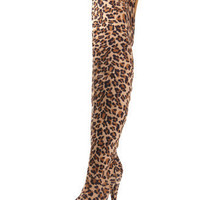 Sueded Thigh-High Platform Boot