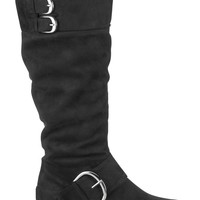 black Vicki metallic buckle boot