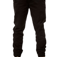 The Slim Chino Joggers in Black