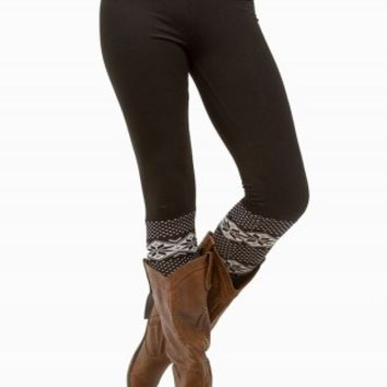FAUX KNEE SOCK LEGGING